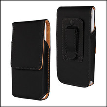 Belt Clip Pouch Case for HTC One M7 Leather Pouch Vertical Cover Mobile Phone Accessory Bag Case for HTC One M7 Belt Phone Bag(China)