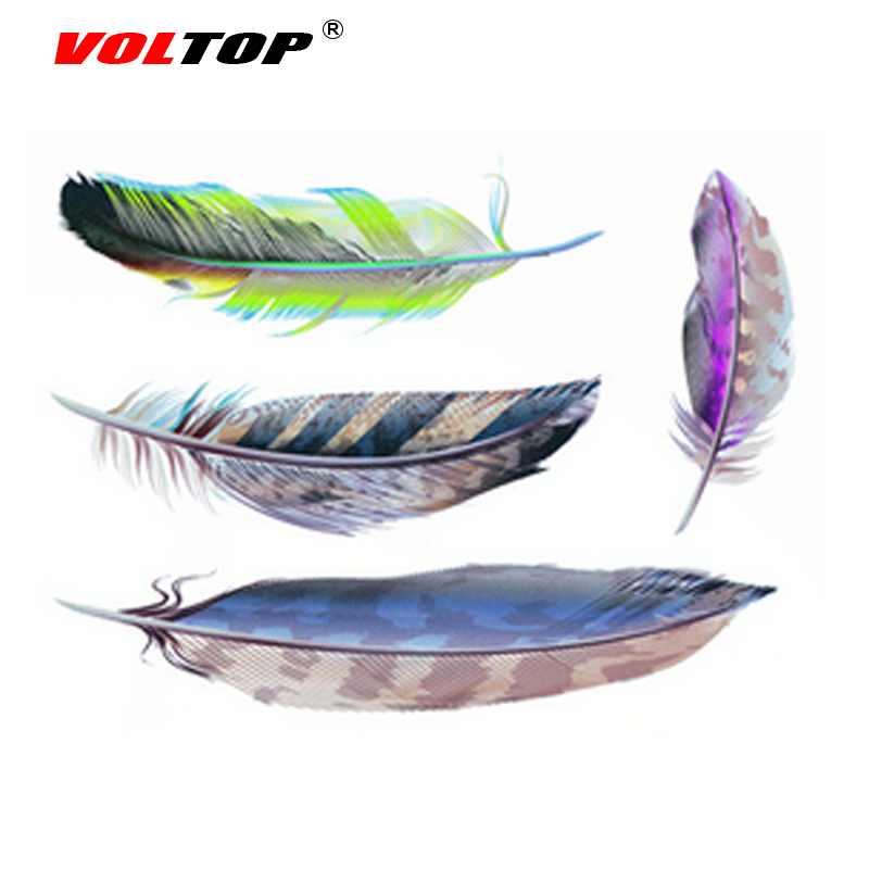 VOLTOP Feather 3D Car Stickers Keep Out Scratch Cover Car-styling Reflective Strips Motorcycle Decorate Auto Sticker Decal Film(China (Mainland))