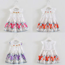 Baby Girl Dress Toddler Kids Sleeveless Flower Party Tutu Dress Cute Prom Princess Dress Summer baby girl clothes