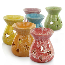 1PC Ceramic Essential Oil Lamps Hollow Stars Moon Pattern Simple Essential Oil Fragrance Candle Incense Burners S $(China)