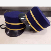 blue hotel staff uniform hat hotel service uniform hat hotel hat royal guard hat coast guard cap(China)