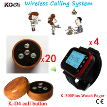 433.92MHZ 1 set Coffee Shops Wireless Call Calling Waiter Server Paging Service System DHL Free Shipping Free
