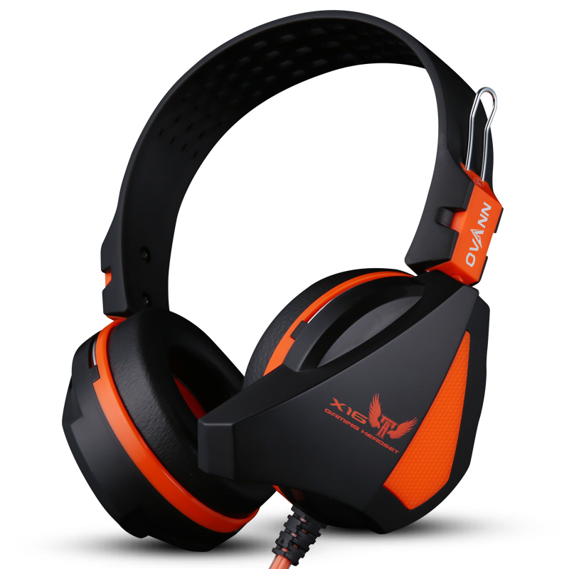 Professional Comfortable Play Computer Game Headset Headphone Omnidirectional Headband Earphone 2.4m Line Orange Light<br><br>Aliexpress