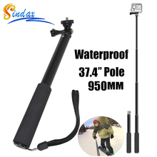 For GoPro Hero 4 Waterproof Monopod Tripod Extendable Monopod Selfie Stick Monopod for xiaomi yi 4k II 2 /SJ4000 Gopro hero 5