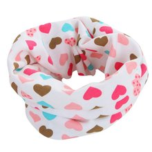 2017 Winter New Cotton Scarf Cartoon Pattern Cute Baby Scarves Kids O ring Collars Children Ring Scarf Accessories