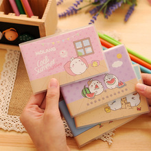 Korea Stationery Lovely Fat Rabbit PVC Cover Mini Notebook For Kids Cute Blank Paper Portable Notepad Kawaii Office School