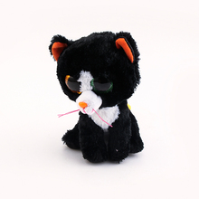 Ty Beanie Boos Original Big Eyes Plush Toy Doll 10 - 15cm Black Cats TY Baby For Kids Birthday Gifts(China)