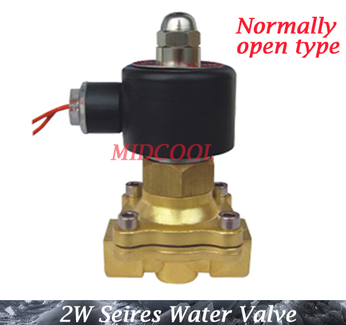 De agua Valvula Normally open type 2W series ac 220V 2W160-10H NO 3/8 Solenoid Valve for air water oil<br>