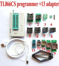 TL866CS programmer +13 universal adapters PLCC Extractor TL866 AVR PIC Bios 51 MCU Flash EPROM Programmer Russian English manual(China)