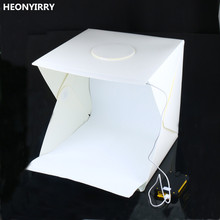 40 x 40 x 40 cm Photo Studio Box Photography Backdrop Built-in Light Photo Box Little Items Photography Box Studio Accessories(China)