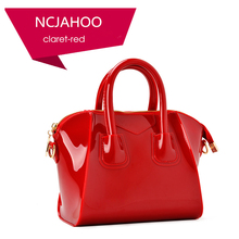 Women New Fashion Smile PVC Jelly Bag Summer Candy Color Shoulder Bag Silicone Tote Handbags