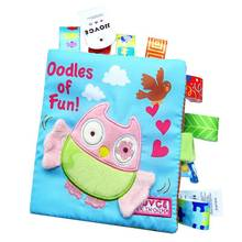 New Arrival Baby Soft Cloth Books Infant Boys Girls Educational Toys For Newborn Baby Learning Night Story Book