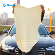 60*90cm Natural Sheepskin Microfiber Chamois Cloth, Car Cleaning Washer Microfiber Suede Cloth Shammy Cloth(China)