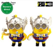 Cartoon Movie Despicable Me 3 3D talk Minions say i love you,CosThe thor minions led keychain,Figure Toys Chiristmas gift