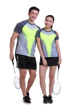 New Sportswear sweat Quick Dry breathable badminton clothes , Women / Men table tennis wear sets sports Shirts 1006