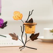 European Style Metal Candle Holder Stand Lantern Zniczccan Lanterns Lanterns Household Products Lead Wall Candlestick DDX30