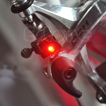 Mini Bike Bicycle brake light mount tail rear bicycle light cycling led with CR1025 battery accessories(China)