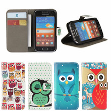 Cute Cartoon Polka Dot Owl Case Cover For Samsung Galaxy S3 S4 S5 Mini Note 3 Wallet Leather Flip Etui Coque Capinha Para Hoesje(China)