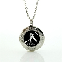 Collier Maxi Necklace Personalized Gift Idea Locket Necklace Ice Hockey Game Fathers Gift, Best ,silver ,accessory For Man T709