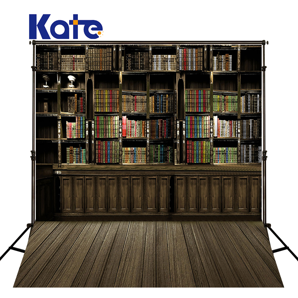 Kate Bookcase Newborn Photography Props Fundo Book Shelves Lockers3D Baby Microfiber Photography Backdrop Background Lk 2082<br>