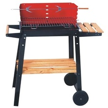 Quality square wooden barbecue grills, outdoor camping grill,BBQ Outdoor Grill(China)