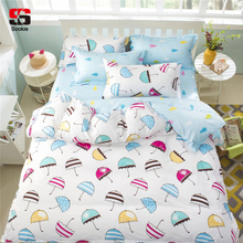 Sookie Pretty Cartoon 3 Pieces Bedding Sets Colorful Umbrella Pattern Duvet Cover Set Pillow Cases Comforter Covers Queen Size(China)