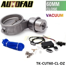 "Exhaust Control Valve Set With Vacuum Actuator CUTOUT 2.3"" 60mm Pipe CLOSE STYLE with Wireless Remote Controller AF-CUT60-CL-DZ"
