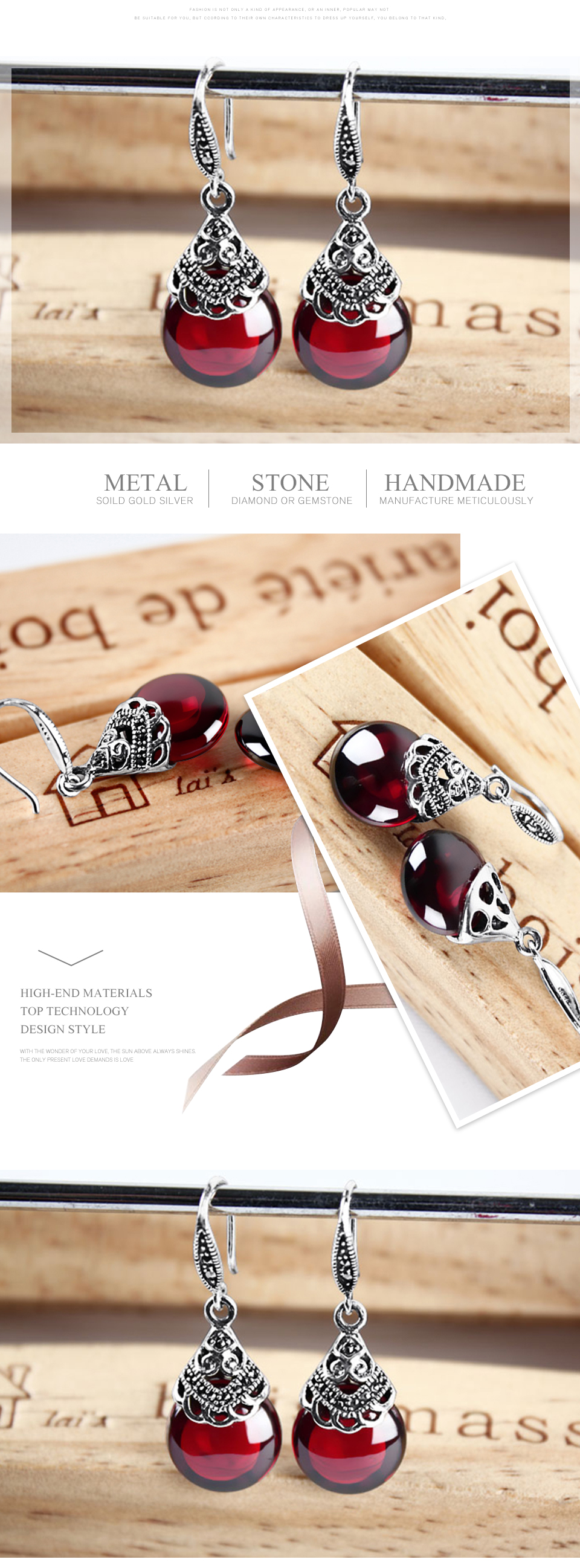 Edi Retro Round Gemstone Garnet Earrings Female 100 925 Sterling Lucky Baby Paci Kliper Pacifier Holder Lion Lb 3383 Silver Fine Jewelry Us631