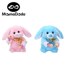Baby Plush Rabbit Toy For Children Kawaii Sing and Play Bunny Stuffed Plush Animals Electric Toys Musical Interactive Soft Dolls(China)