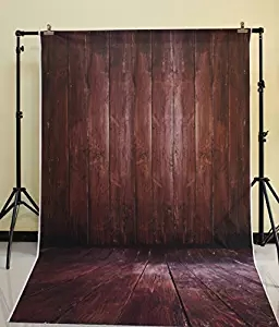 5X10ft Cotton polyester offee Brown Barn Wood Floor Photography Backdrop Classic Wood Photo Prop XT-3639<br>