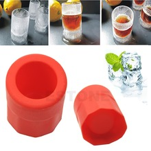 E74 1 Cup Hot Shape Rubber Shooters Ice Cube Shot Glass Freeze Mold Maker Tray Party Supply
