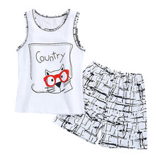 Print Spring Baby Clothing Sets Children Boys Girls Kids Brand Sport Suits Tracksuits Cotton Short + Pants Infant Warm Romper
