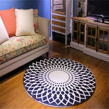 9 Styles Living Room Personality Carpet Bedroom Tea Table Area Rugs Anit-slip Home Decor 1 Pic Round Cover Floor Non-Slip  Mat