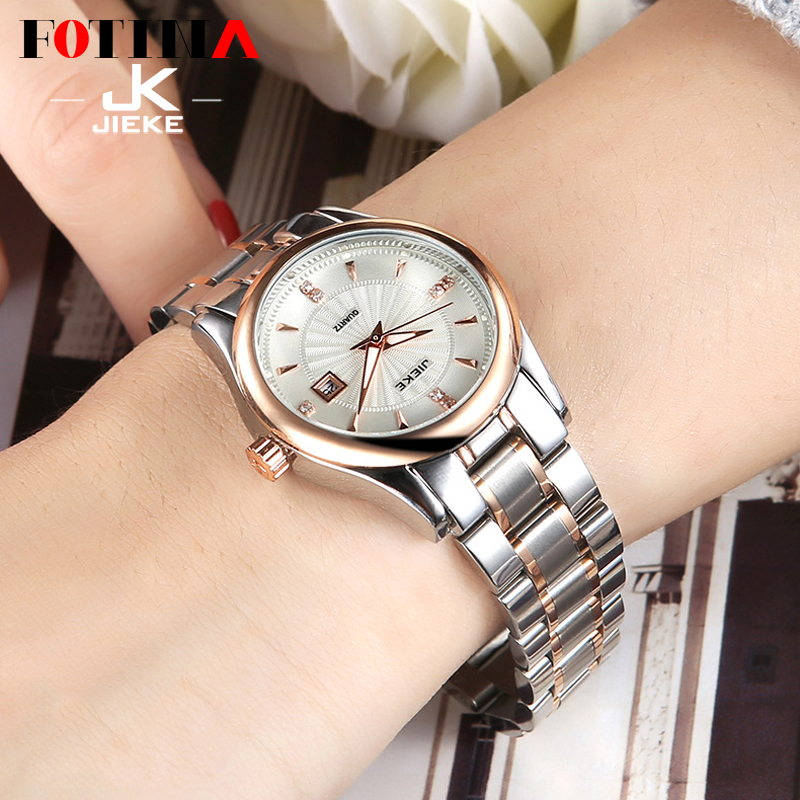 FOTINA Fashion Brand JK Lovers Watch Men Women Ultra Thin Watches Black Rose Gold Wristwatch Sport Couple Stainless Steel Watch<br><br>Aliexpress