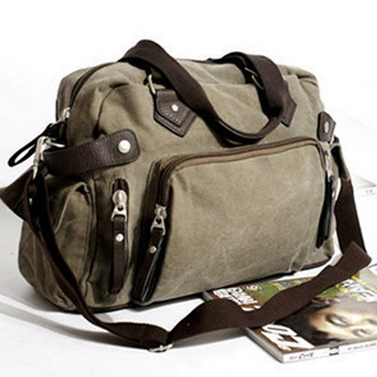 New shoulder casual bag messenger bag canvas man travel handbag for male trip/daily use,grey khaki black color free shipping<br>