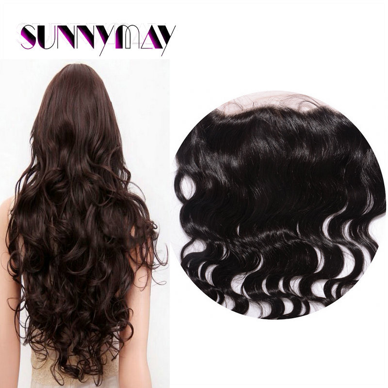 Sunnymay In Stock 7A  Malaysian Silk Base Lace Frontal Closure 13*4 Malaysian Body Wave Virgin Hair Lace Frontals With Baby Hair<br><br>Aliexpress