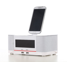2015 Brand new High-Class NEW NFC Lighting Alarm Bluetooth Speaker Dock Docking Station for iPhone 6S 6 Plus Smartphone