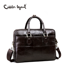 Cobbler Legend Men Genuine Leather Briefcase Bag Male Crossbody Bags Shoulder Handbag Men's Messenger Laptop Business Bag