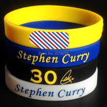 4pcs 3D embossed Stephen Curry silicone wristband rubber bracelets free shipping