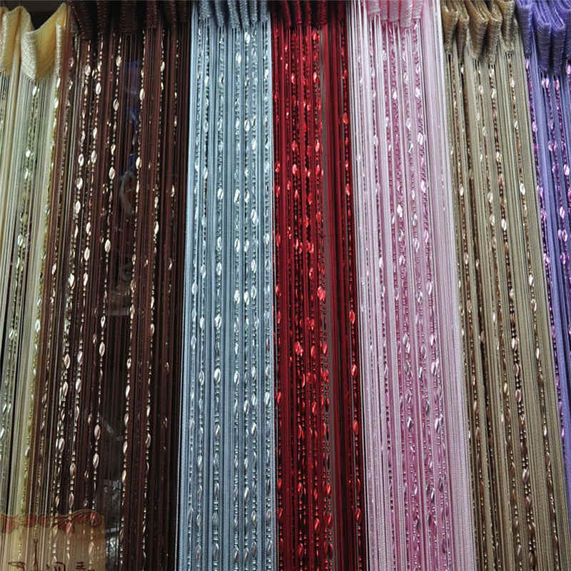 SHNWORLD 100cmX200cm Door String beads Curtain Fringe Window Room Divider Tassel Screen Valance Decorative