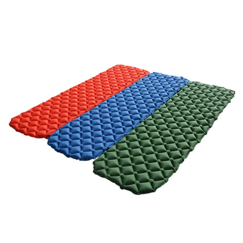 Outdoor Ultralight Camping Mat TPU Inflatable Mattress Air Mattress Sleeping Pad Airbed Inflatable Bed Folding Bed Air Cusion<br>