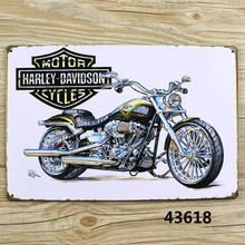 Motor Cycles Vintage Metal Tin Signs Retro Tin Plate Sign Wall Decoration for Cafe Bar Shop and Restaurant