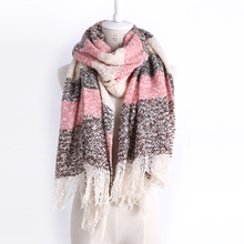 New Wrap Scarf Wool Blends Soft Multicolor Warm Scarves Long Large Shawl Tassels Women Fashion Accessories(China)