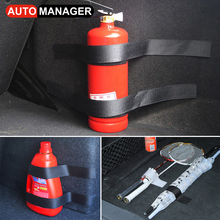 5 Pcs/Set Car Trunk Hook Loop Belt Tape Storage Organizer Net Content Bag Stow Fire Extinguisher Fixing Tools Universal