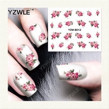 YZWLE 1 Sheet DIY Designer Water Transfer Nails Art Sticker / Nail Water Decals / Nail Stickers Accessories (YZW-8012)(China)