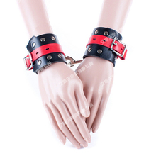 Buy Adult games slave bondage handcuffs wrist restraints leather harness hand cuffs slave bdsm fetish sex toys couples