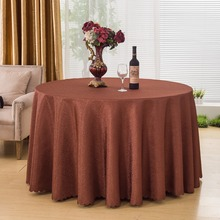 chinese Embroidered Round Polyester Red Gold Tablecloth Table Cloth  Dining Table Cover Home Use