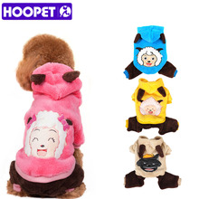 Pet Dog Cat Clothes Fashion Cute Cartoon Images Soft Warm Velvet Puppy Autumn Winter Coat Cosplay Costume