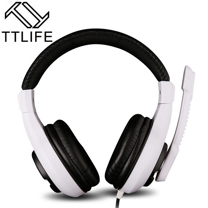 TTLIFE Brand Surround Sound Stereo Bass Gaming Earphone Headphones Headset with Mic Wired for PC Gamer For Internet Bar 2.4m<br><br>Aliexpress