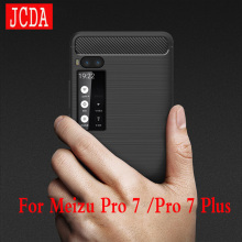 Meizu Pro 7 Pro7 plus phone Case bag Carbon Fibre Brushed TPU soft protective Smart back cover shell Shockproof JCDA Brand(China)